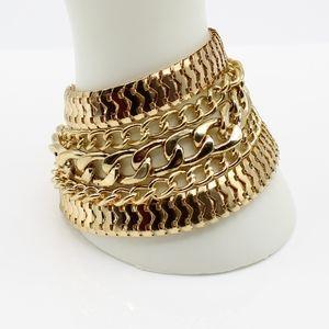 Vintage chunky gold tone bracelet
